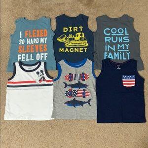 (6) Boys Sleeveless Shirts Bundle - 3T
